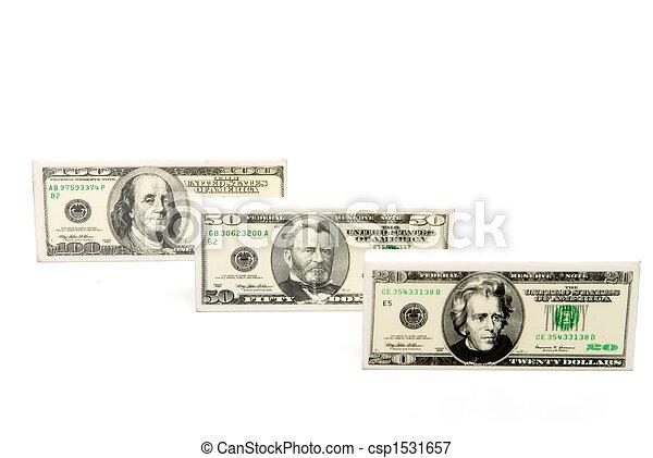 Money Pencil Erasers - csp1531657