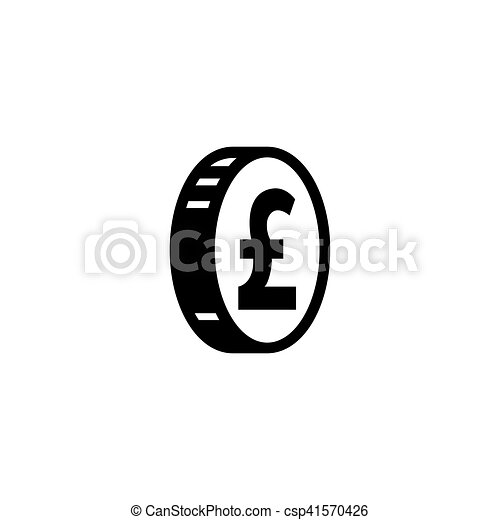 Money Pound Icon Or Flat Sign National Uk Currency Symbol Isolated
