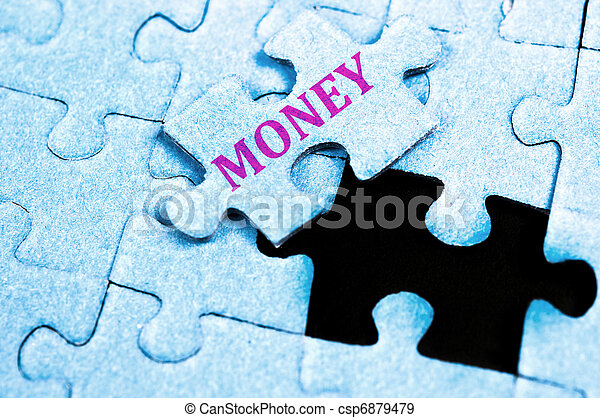 Money puzzle - csp6879479