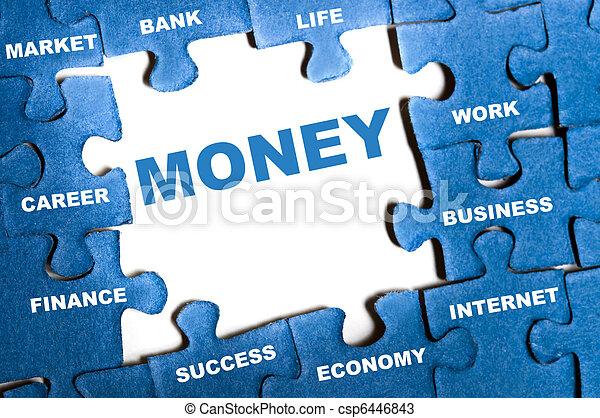 Money puzzle - csp6446843