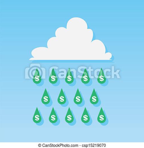 Money Rain Drops  - csp15219070