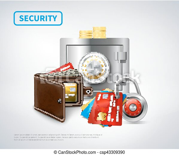 Money Realistic Security Set - csp43309390