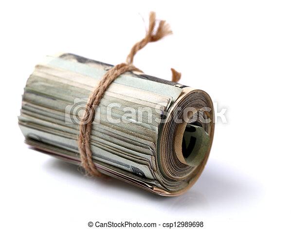Money roll - csp12989698