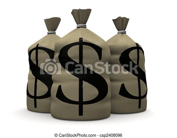 money sacks - csp2408096