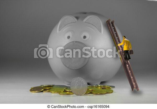 Money Saving Concept - csp16165094