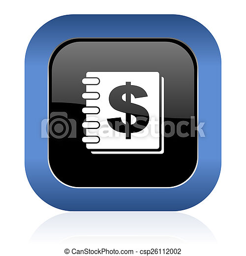 money square glossy icon - csp26112002