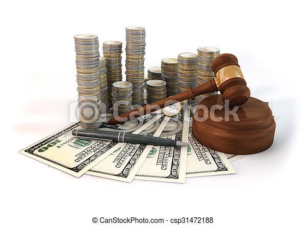 Money Stack of Auction - csp31472188