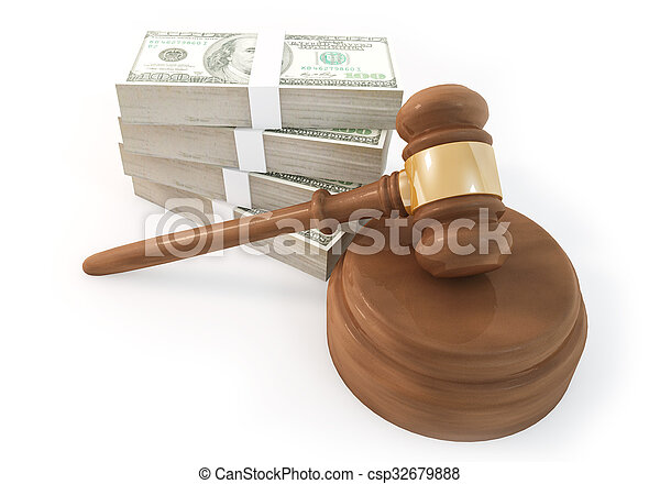 Money stack with Auction isolate - csp32679888