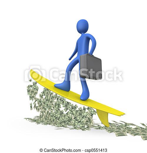 Money Surfing #2 - csp0551413