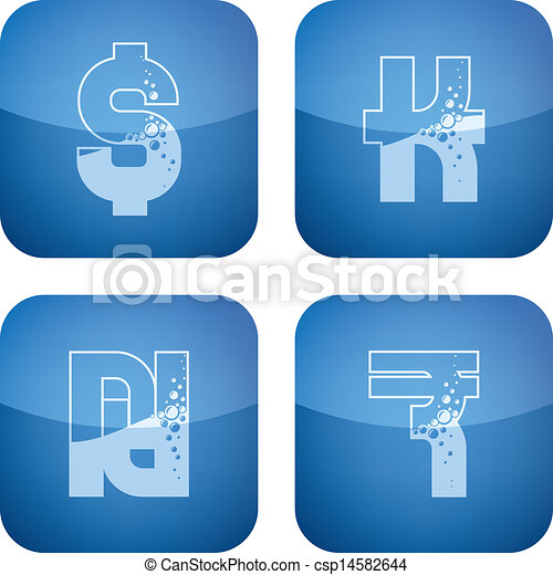 Money symbols - csp14582644