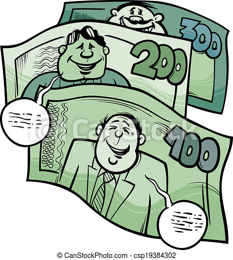 money talks saying cartoon illustration - csp19384302