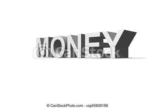 Money Text - csp55609186