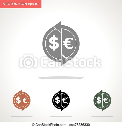 money transaction vector icon isolated on white background - csp76386330