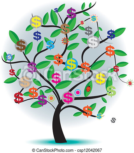 colour money tree concept clip art vector search drawings and rh canstockphoto com