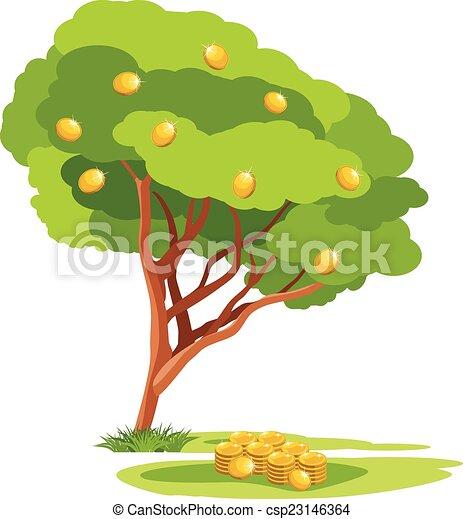 money tree vector illustration clip art vector search drawings rh canstockphoto com