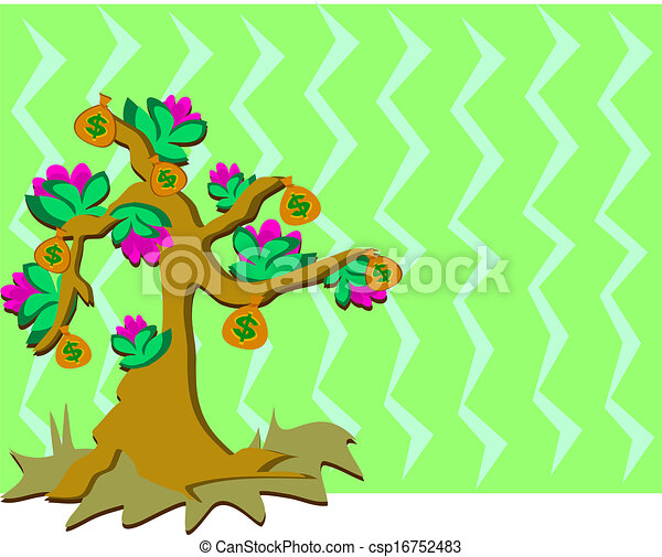 money tree with flowers and backgro here is a pretty money tree rh canstockphoto com Funny Money Clip Art People with Money Clip Art