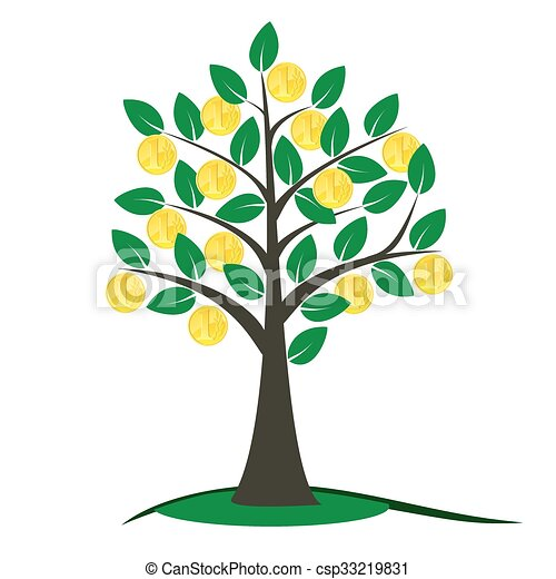 money tree with golden coins money tree vector illustration rh canstockphoto ie