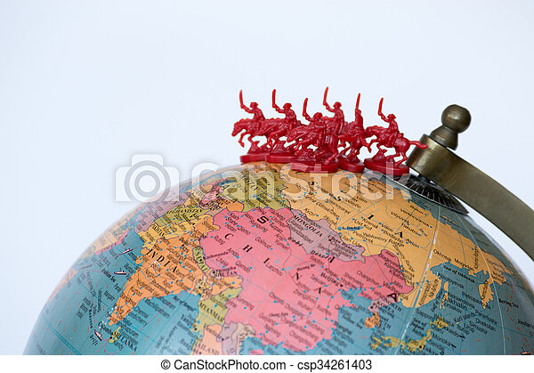 Mongol horde - csp34261403
