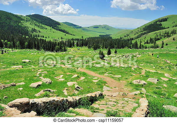 mongolian, 風景 - csp11159057