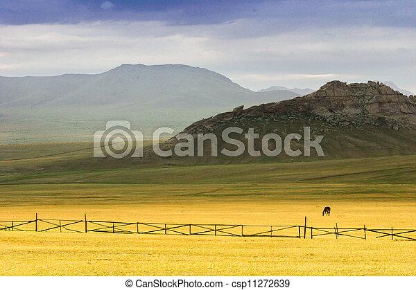 mongolian, 風景 - csp11272639
