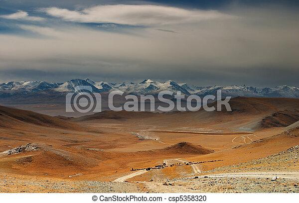 mongolian, 風景 - csp5358320