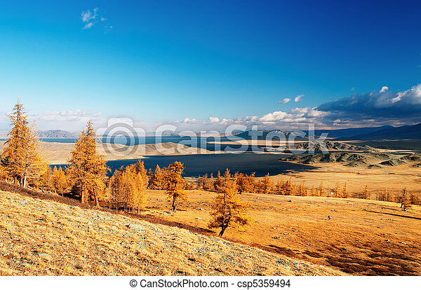 mongolian, 風景 - csp5359494