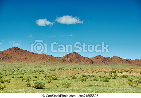 mongolian, 風景, 典型的 - csp71555536