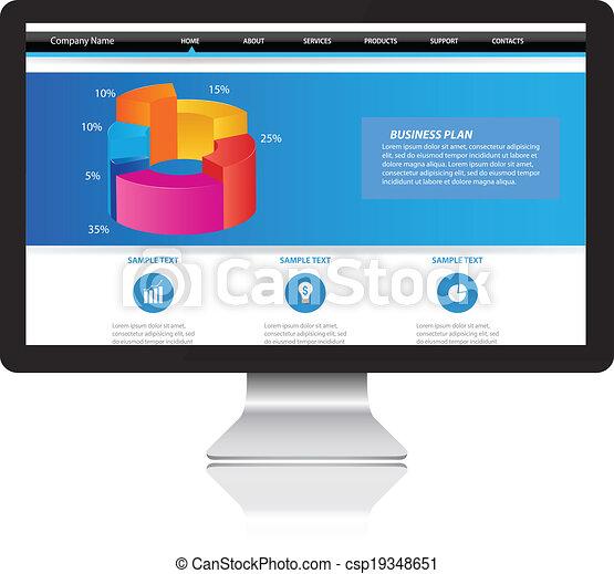 monitor computador - csp19348651