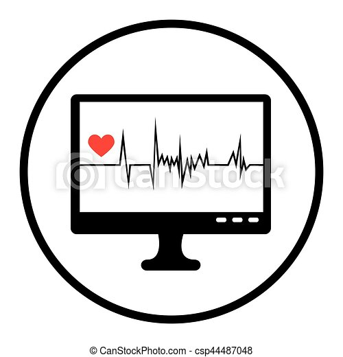 monitor ekg graphic icon vector illustration design eps vector rh canstockphoto com ekg rhythm clipart ekg clipart free