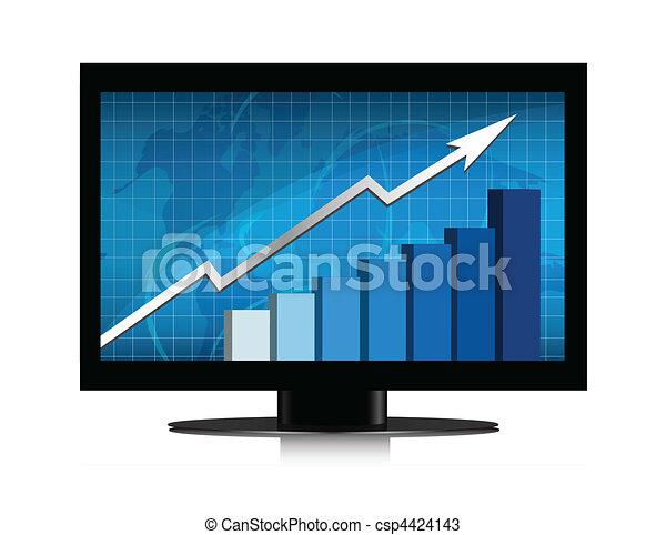 Monitor growth graph - csp4424143