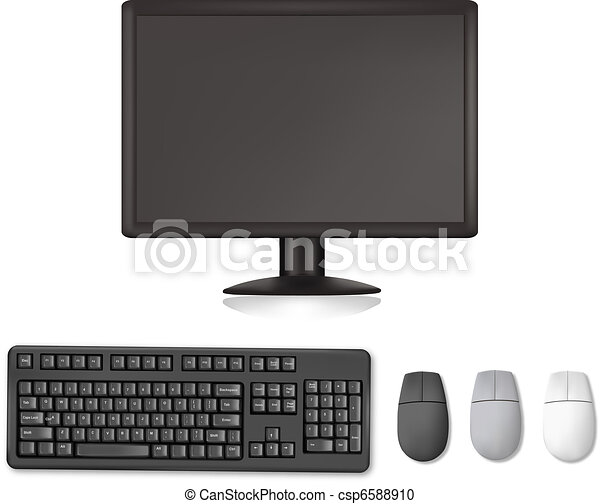 Monitor, keyboard and mouses.  - csp6588910