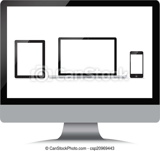 Monitor, laptop, phone, tablet - csp20969443