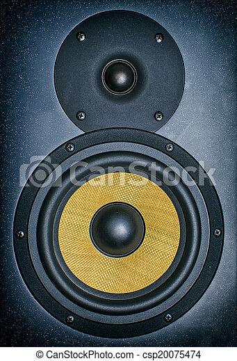 monitor., profissional, estúdio música, close-up. - csp20075474