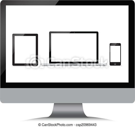 monitor, telefone, tabuleta, laptop - csp20969443