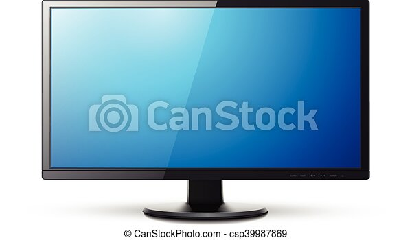 Monitor TV 3D icon - csp39987869