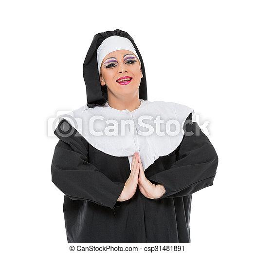 Monja Vestido Reina De La Fricción Actor Vestido Reina