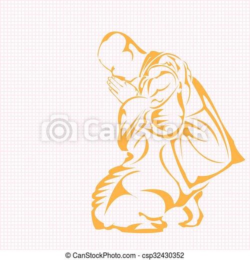 Monk. - csp32430352