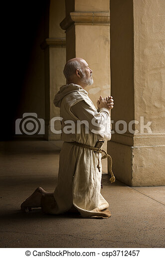 Monk in Prayer - csp3712457