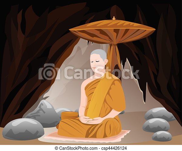 monk shape vector design - csp44426124