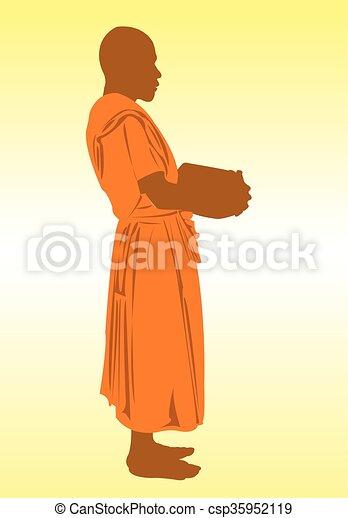 Monk. - csp35952119