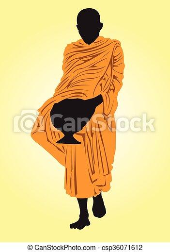 Monk. - csp36071612