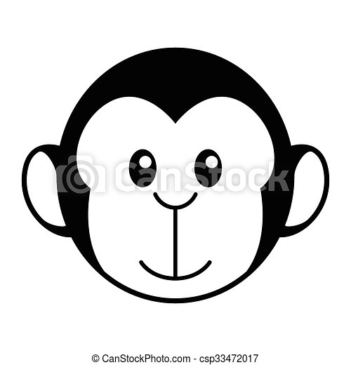 Monkey Cartoon - csp33472017