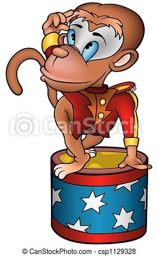 Monkey circus performer - csp1129328