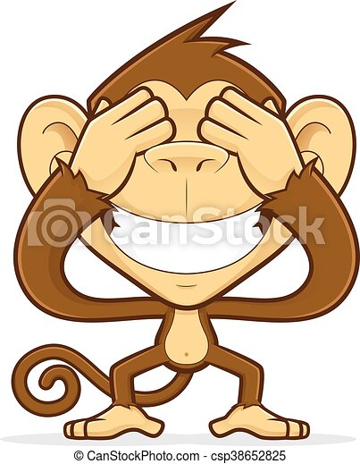 monkey closing his eyes clipart picture of a monkey cartoon rh canstockphoto com free clipart closed eyes