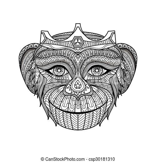 Monkey coloring book - csp30181310