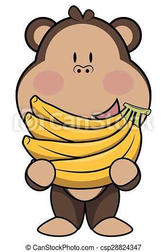 monkey eat banana rh canstockphoto com