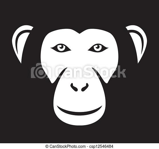 monkey head (ape head, monkey face) - csp12546484