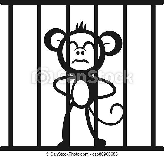 Prisoner Jail Illustration Stock-Vektorgrafik (Lizenzfrei) 39516349