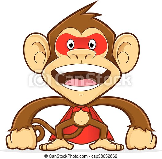 monkey superhero clipart picture of a monkey cartoon character rh canstockphoto com clip art superhero clip art superhero letters
