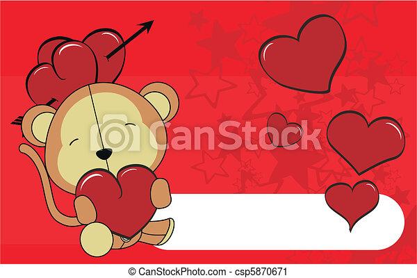 monkey valentine plush background  - csp5870671